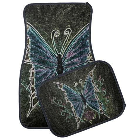 Butterfly Car Mats by Butterfly Web Car Floor Mat Zazzle