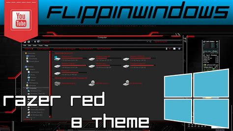 download theme windows 8 1 razer windows 8 theme razer red 8 youtube