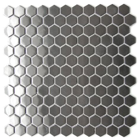 stainless steel bathroom tiles eden mosaic tile honeycomb hexagon mosaic stainless steel tile emt 103 sil sm