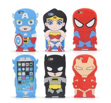 Casing Iphone 55s Superman Batman Captain America iphone 7 cases batman spider iron