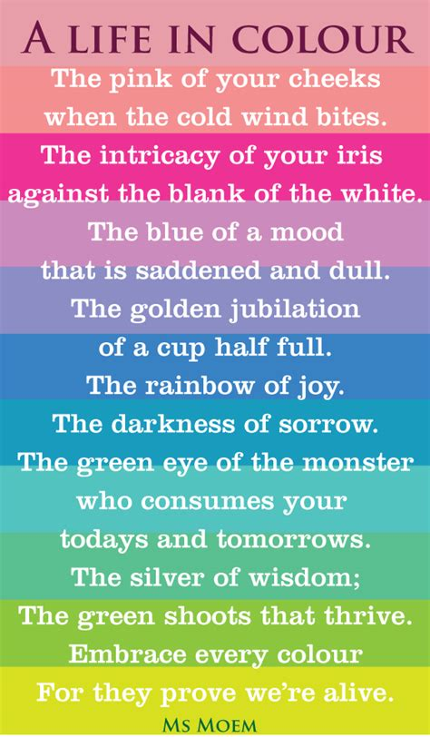 poems about colors in colour ms moem poems etc