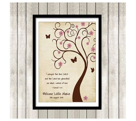 Bible Verses For Baby Shower by Bible Verse Thumbprint Tree Guest Book Poster Printable