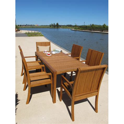 Pacific Patio Furniture Mimosa High Back Bamboo Armchair Temple Webster