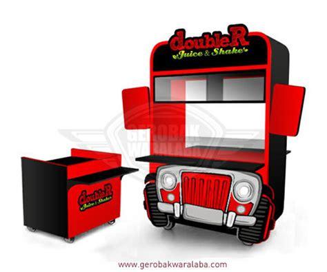 desain gerobak jus unik gerobak juice milkshake jasa gerobak bandung