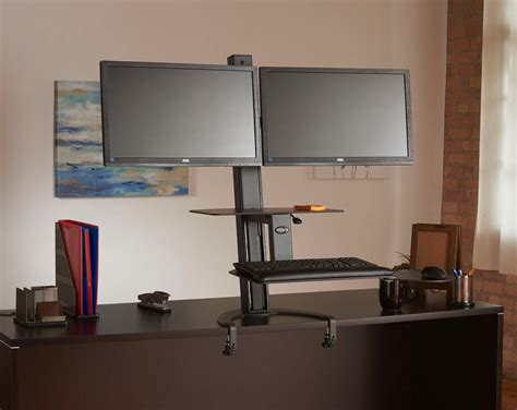 Dual Monitor Standing Desk Dual Monitor Adjustable