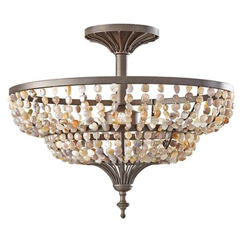 Rustic Ceiling Lights by Murray Feiss Sf311ri Maarid 3 Light Semi Flush Ceiling