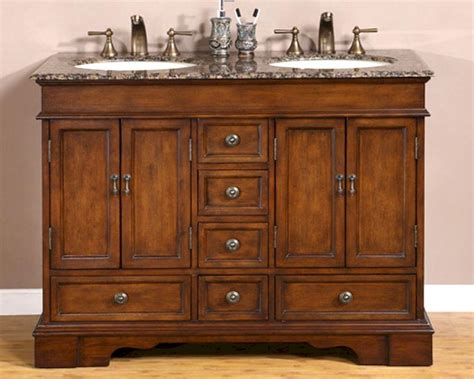 brown bathroom vanity silkroad 48 quot double bathroom vanity brown granite top