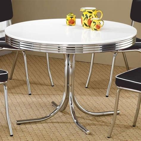 50s kitchen table retro kitchen dining 50 s diner table chrome classic
