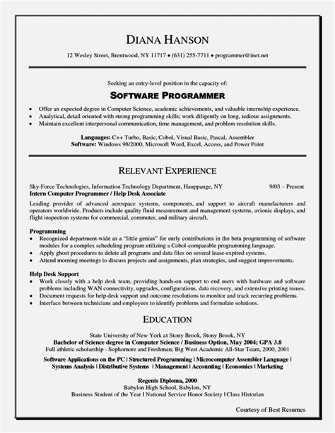 Entry Level Resume Objective by Exles Of Resumes For Entry Level Resume Template