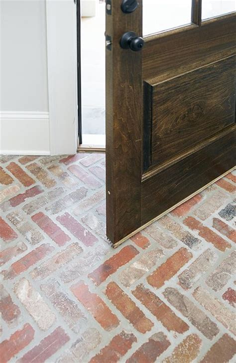 bathroom brick herringbone floor brick pavers herringbone