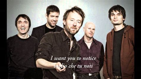 traduzione testo radiohead radiohead testo e traduzione