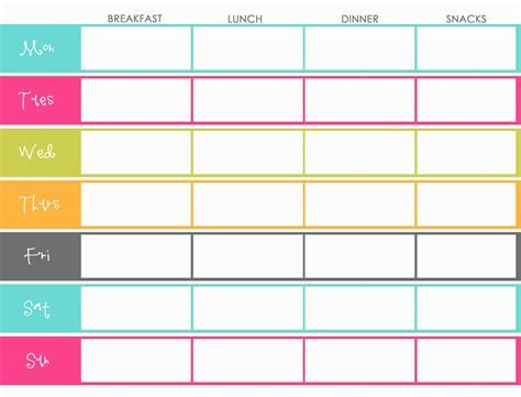 Little Housewife Meal Planning Weekly Menu Planner Template