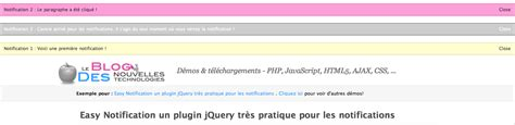 notification pattern js easy notification un plugin jquery tr 232 s pratique pour les