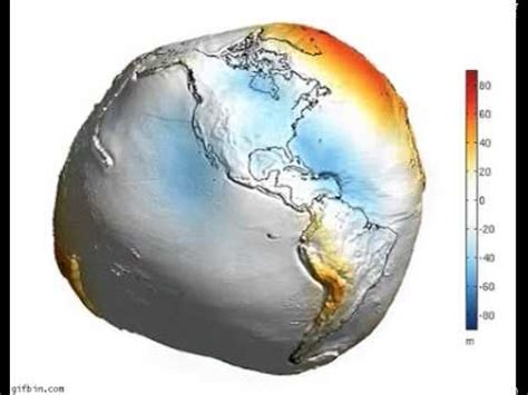 simulation of earth's geoid (the relative effect of