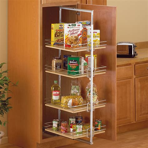 roll out pantry center mount pantry roll out system nickel in pull out