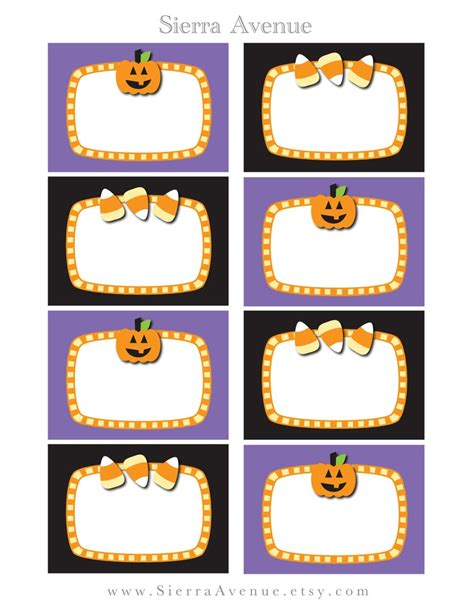Halloween Treat Labels Festival Collections Treat Label Template