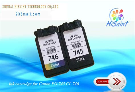 Tinta Canon 746 Cl 746 compatible ink cartridge for canon pg 745 pg 746 cl for canon laserjet mg2470 2570 ip2870 746