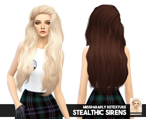 cc hair sims 4 miss paraply stealthic s sirens solid hair retextured