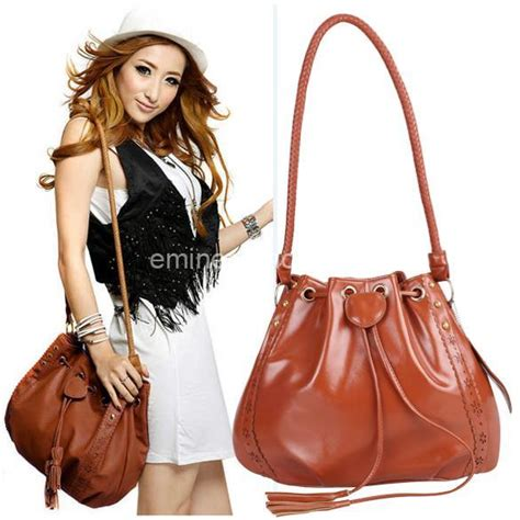 Korea Style Shoulder Bag korean style s hobo pu leather handbag fashion