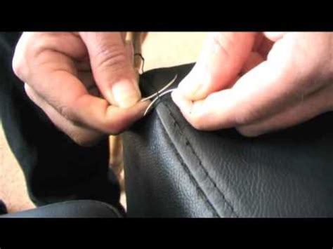 how to sew leather upholstery introduction to hand stitching youtube