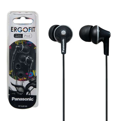 Earphone Panasonic Rp Hjc120e K panasonic rp hje125e k ergo fit in ear headphones 7dayshop