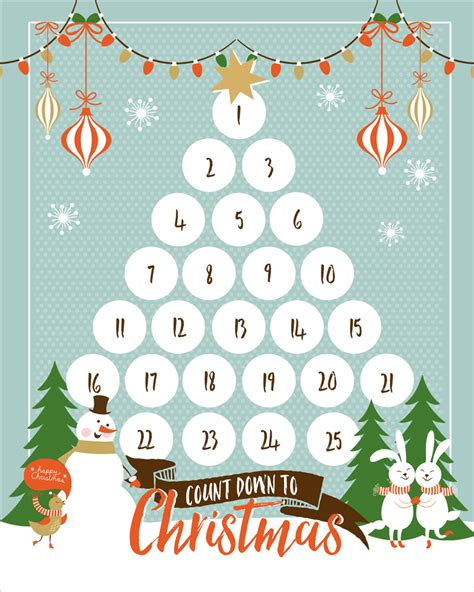 printable christmas tree countdown countdown to christmas printable