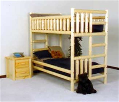 Pine Log Bunk Beds Northwoods Pine Log Bunk Bed The Log Furniture