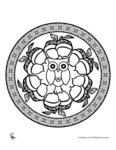 autumn mandala coloring pages pin by sue a on coloring pages pinterest