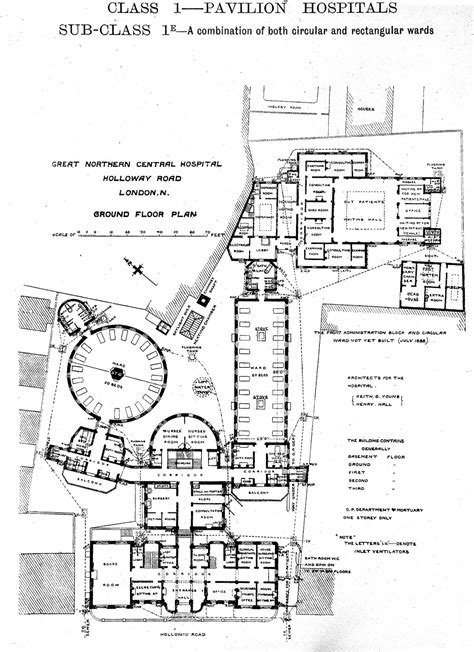Minecraft Building Floor Plans File Plan Of Great Northern Central Hospital London 1893