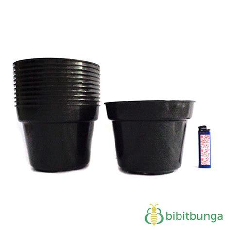 Plastik Hitam Pot Plastik Hitam 216 17 Cm 12 Pcs Bibitbunga