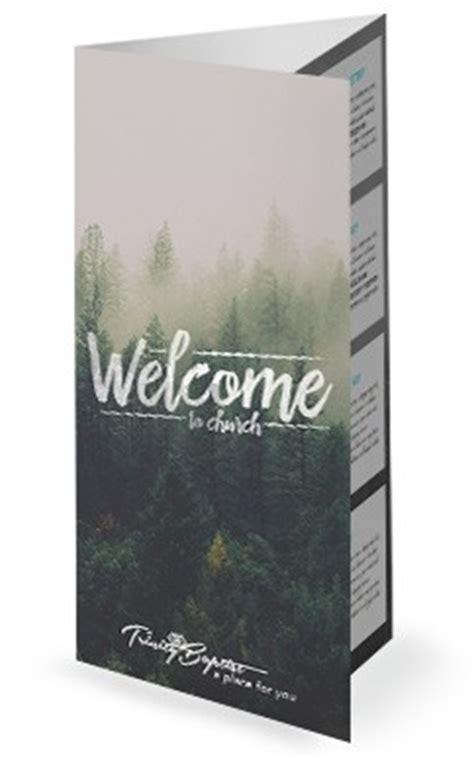 Forest Welcome Church Trifold Bulletin Free Tri Fold Church Bulletin Templates