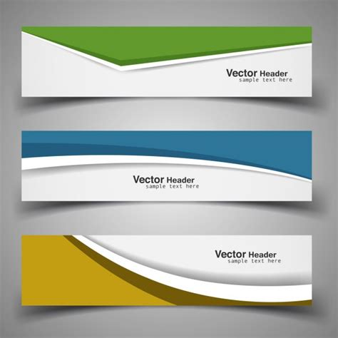 templates for banners free download modern banner template set vector free download
