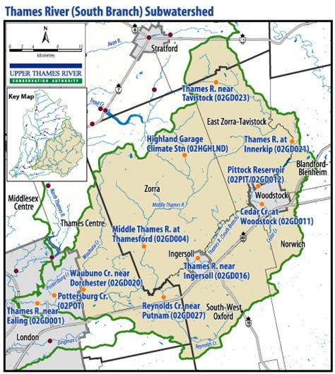 upper thames river conservation authority map south thames river stream gauges utrca inspiring a