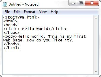 html tutorial hello world html for kids chapter 4 first webpage