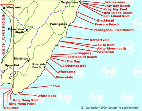 interactive map of us east coast south east coast surfing in south east coast new