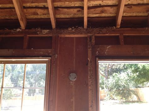 Clipped Ceiling Temporary Rafter Support For Clipped Ceiling Remodeling