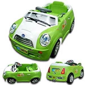 Remote Mini Cooper Ride On Green 6v Rechargeable Kid S Ride On Mini Cooper Style Car
