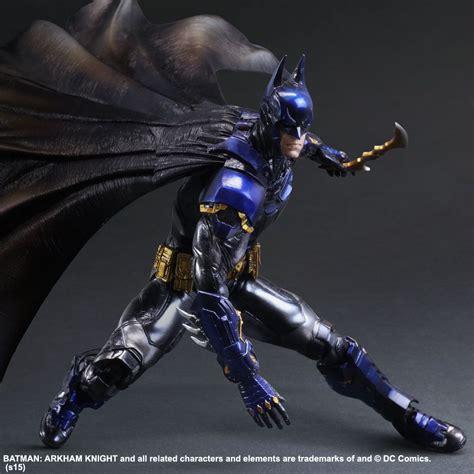Play Arts Batman Arkham Version Limited Color Ver batman dons a blue and gold batsuit for limited edition