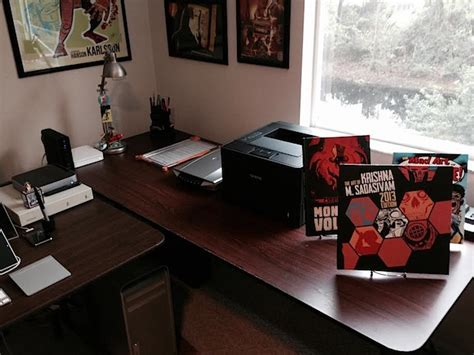 desk for digital artist mac setups the desk of a sequential artist comic