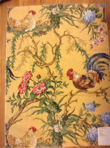 Kitchen Valance Ideas french country rooster fabric hand printed pattern chanticleer