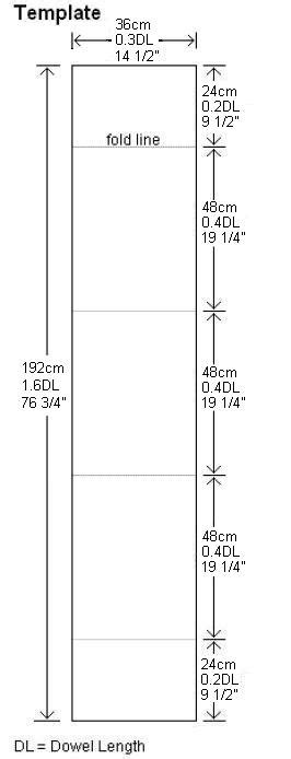 dowel template a box kite complete for the mbk