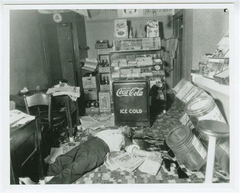 crime scene photograph of body of joseph rosen in candy