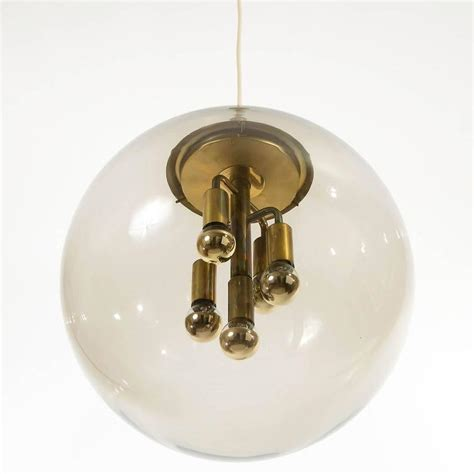 Large Limburg Pendant Light Brass And Amber Glass Globe Large Glass Globe Pendant Light
