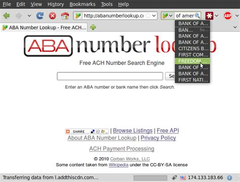Number Lookup Us Aba Number Lookup Add Ons For Firefox