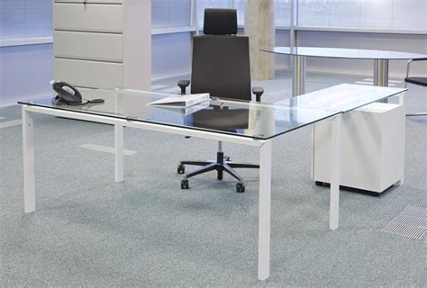 Glass L Shaped Desk Office Depot Office Max Glass Desk Realspace Merido Desk Espressosilver By Office Depot Officemax