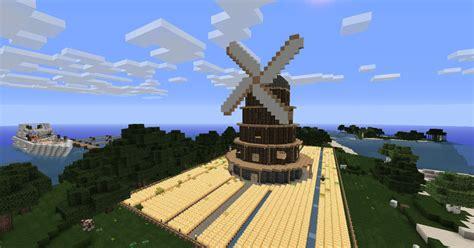 Minecraft: XXL Windmühle mit Feld v 1.4.7   1.5   1.5.1 ... Minecraft Windmill Farm
