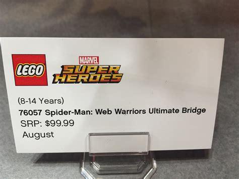 Web Warriors Ultimate Bridge Battle Lepin 07038 fair 2016 lego marvel spider bridge battle set marvel news