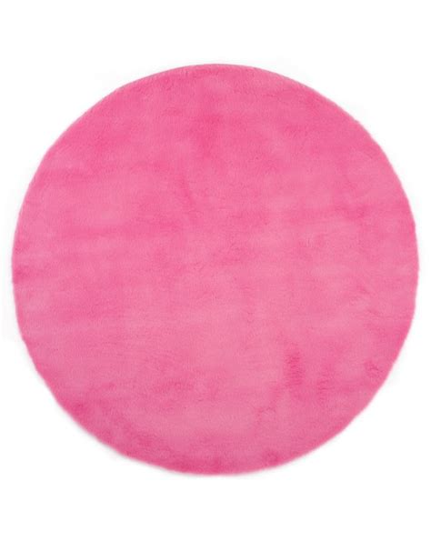 pink circle rug design and washable rug for the bedroom