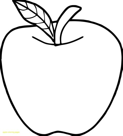 A Apple Coloring Page by Printable Pictures Of Apples Free Apple Coloring