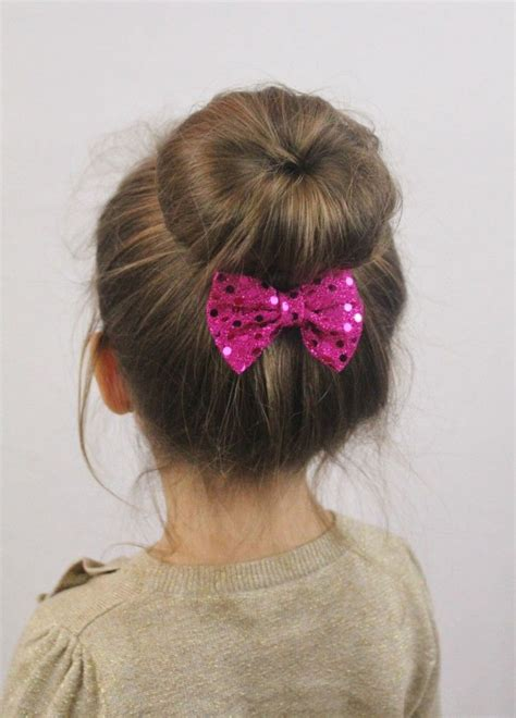 cute hairstyles in a bun 14 cute and lovely hairstyles for little girls sock bun